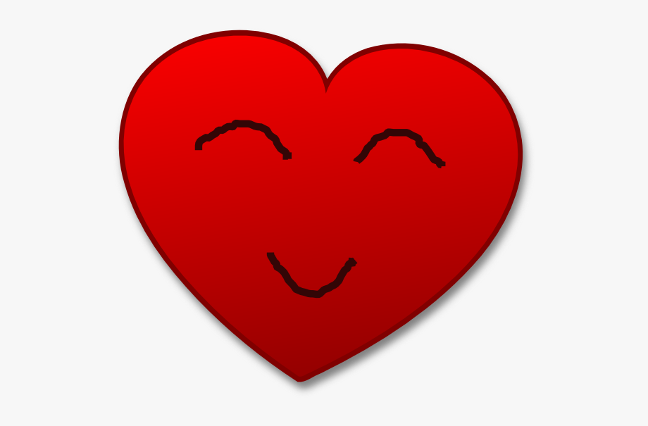 Cartoon Smiling Heart Clipart.