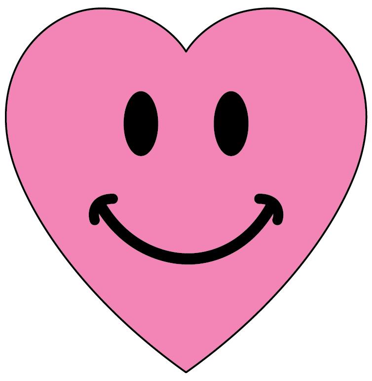 Happy Face Heart Clipart.