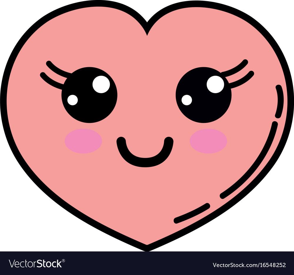 Kawaii cute happy heart love.