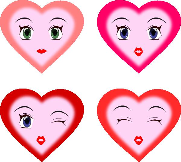 Heart Faces clip art.