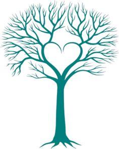 Heart Family Tree Clipart.