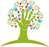 Heart Family Tree Clip Art.