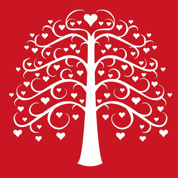 Black Heart Tree Clipart.