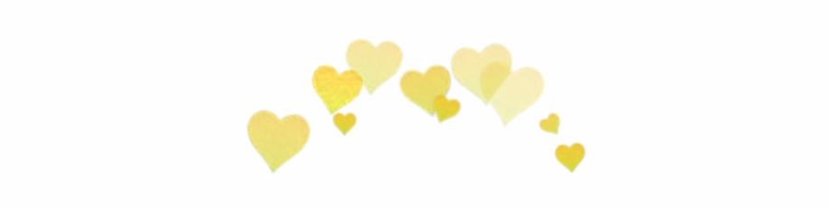 Yellow Hearts Snapchat Filter.