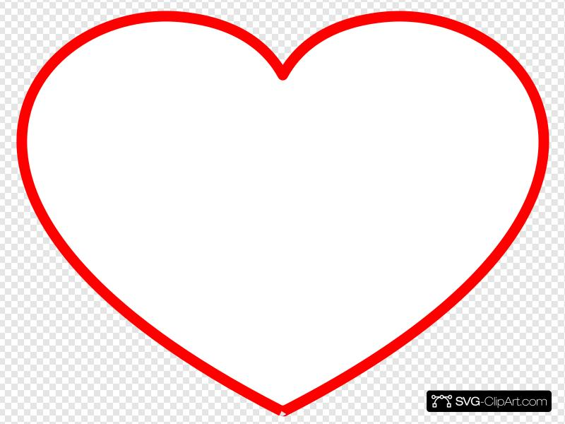 Heart Frame New Red Clip art, Icon and SVG.