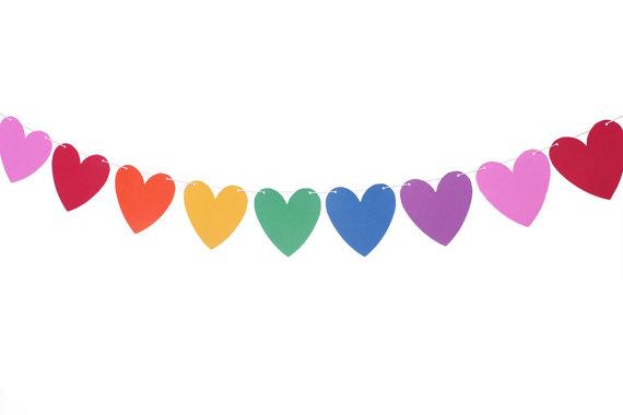 Heart Garland Clipart.