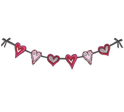 Felt Valentine Heart Garland.