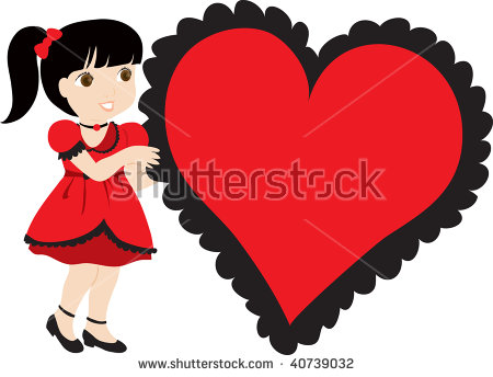 Clip Art Illustration Cute Little Girl Stock Illustration 40739017.