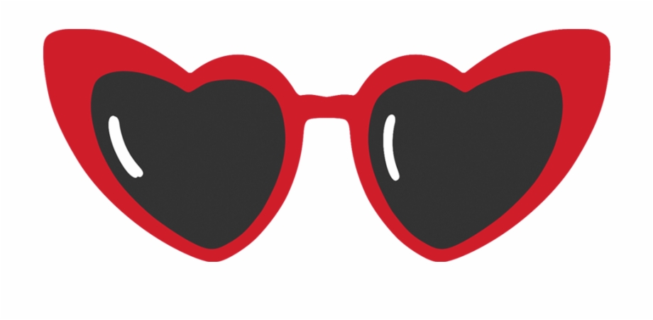 Heart Shaped Sunglasses Banner Transparent Library.