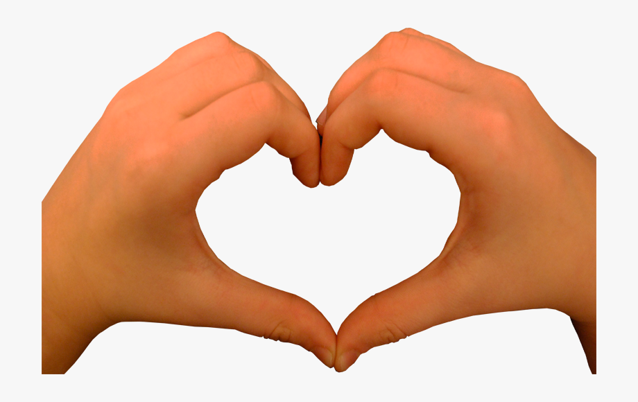 Download Heart Hands Transparent Clipart Hand Heart.