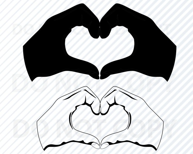 Heart hands SVG File for Cricut.