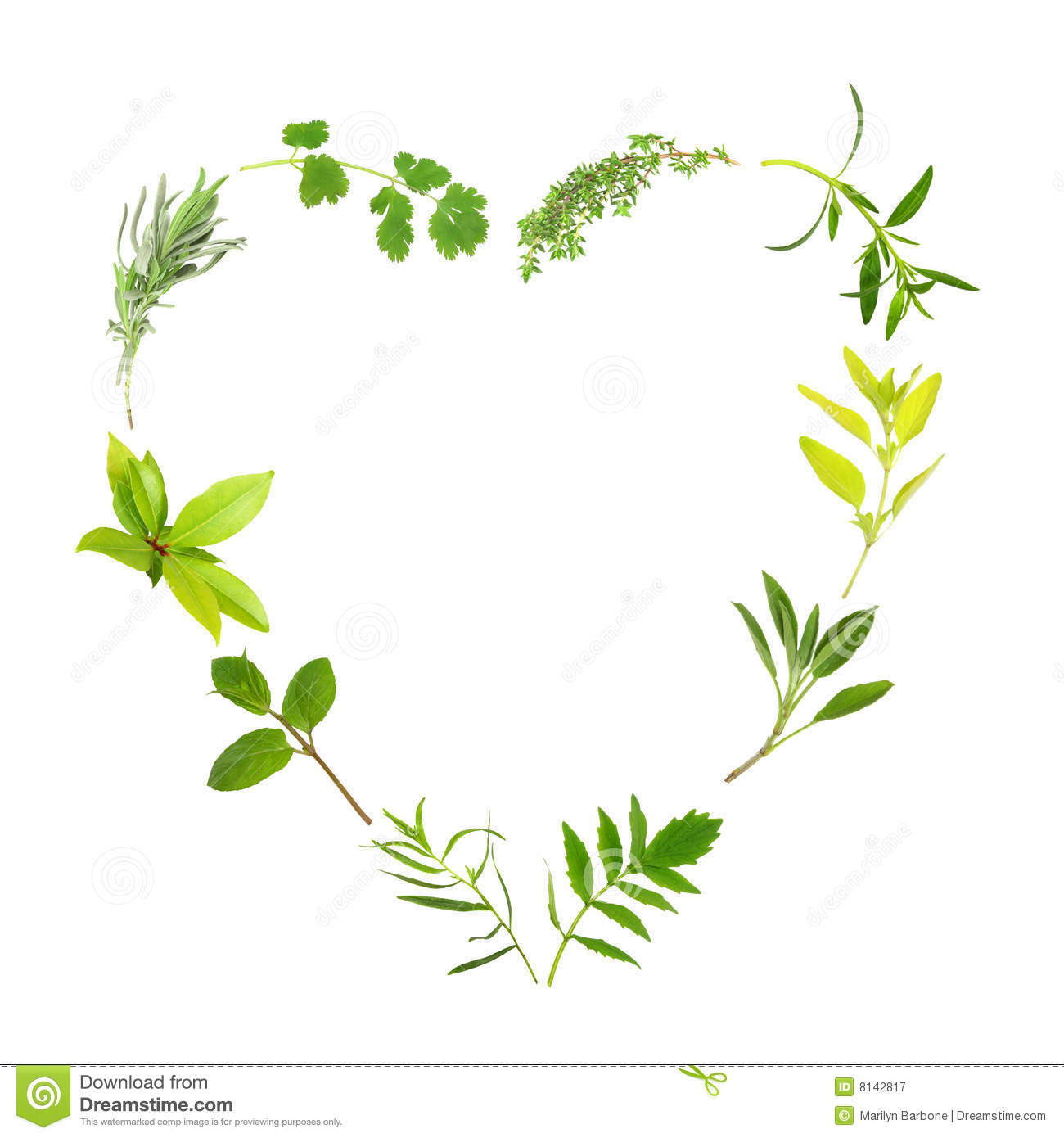 Herb Heart Clipart.