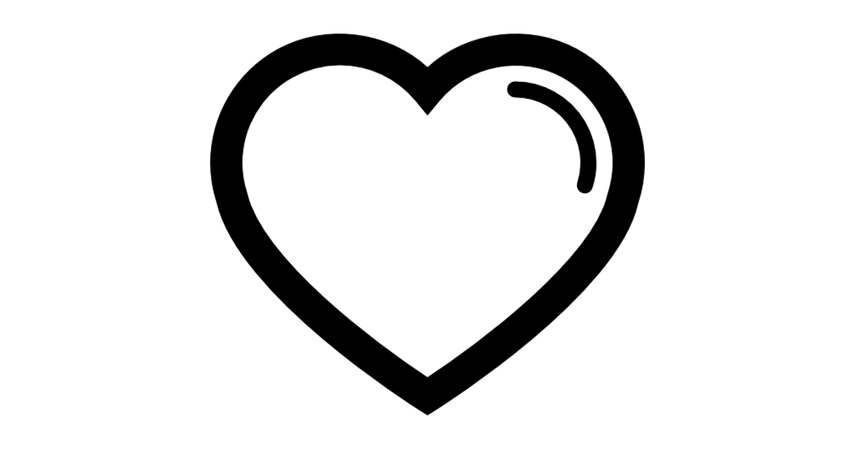 Heart shape outline.