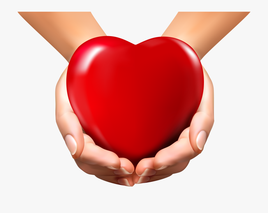 Online Hands With Heart Png Clipart Image Transparent.