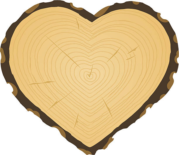Heart Wood Clip Art, Vector Images & Illustrations.