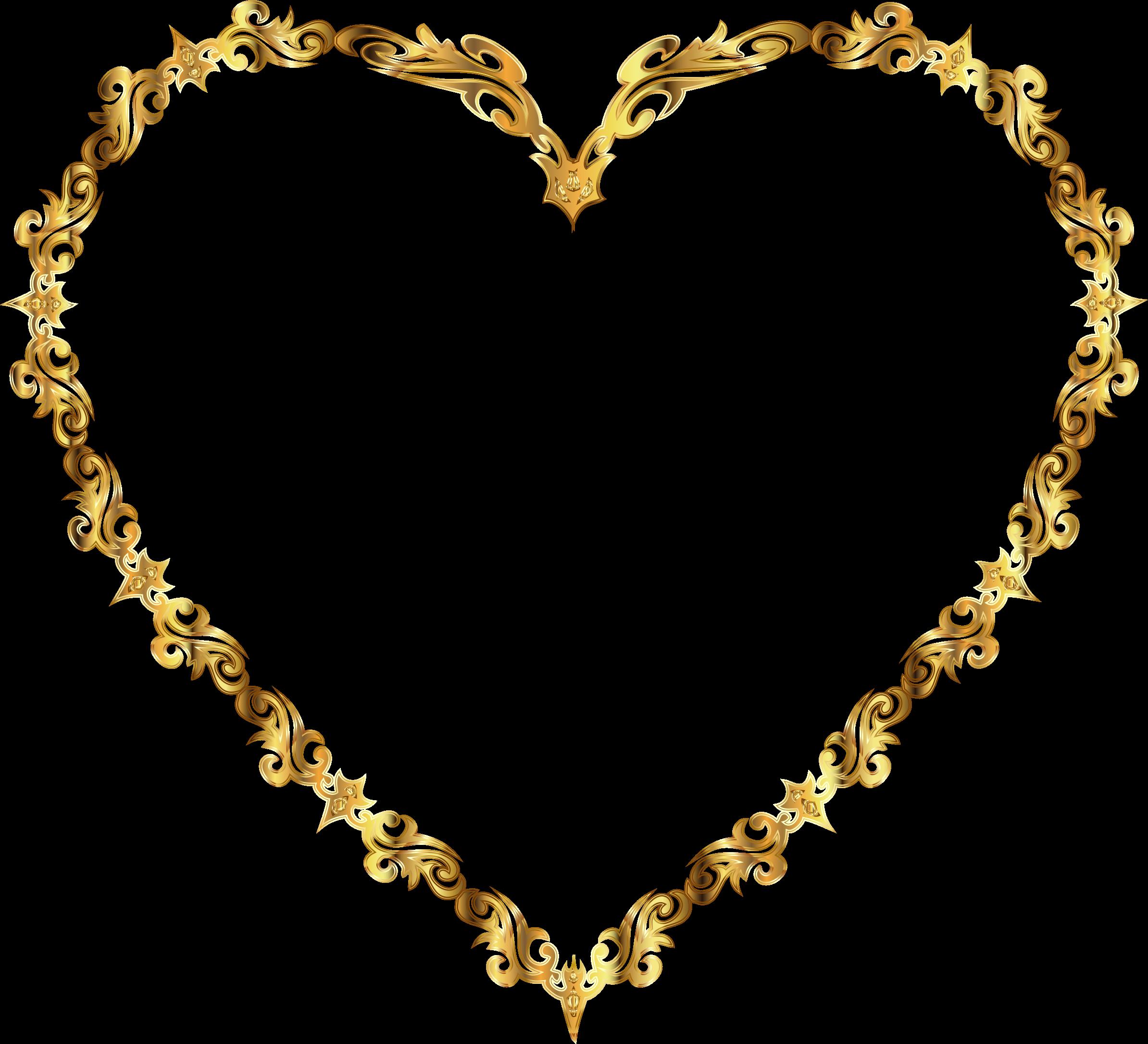 Clip Art Line Art Heart.