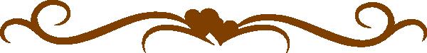 Brown Heart Line Clip Art at Clker.com.