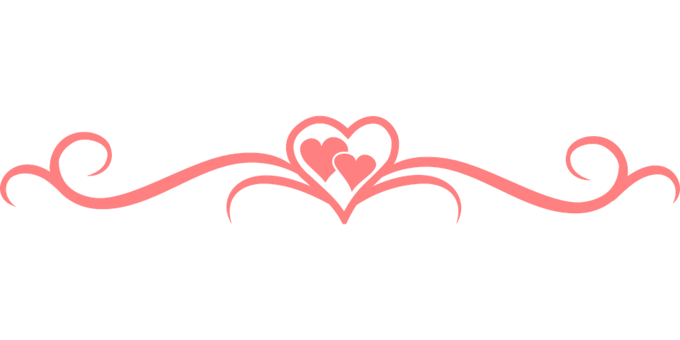 Heart Line Clipart on Dashed Line Border