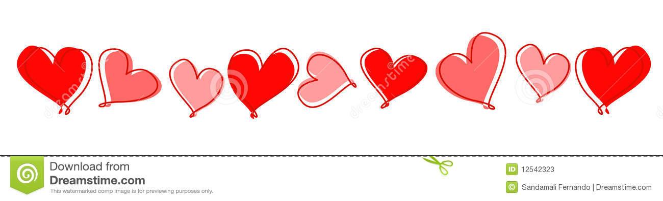 Hearts Line / Divider Stock Photos.