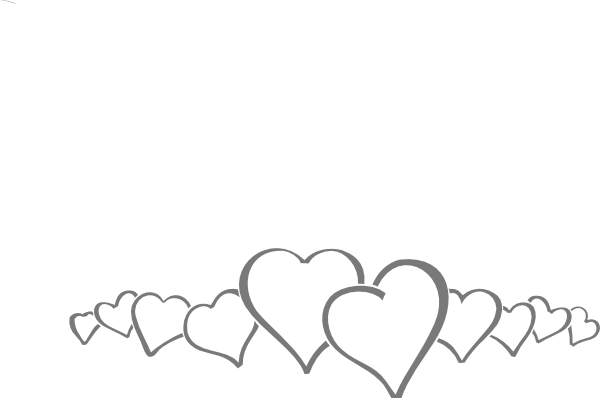 Hearts In A Line Clip Art At.