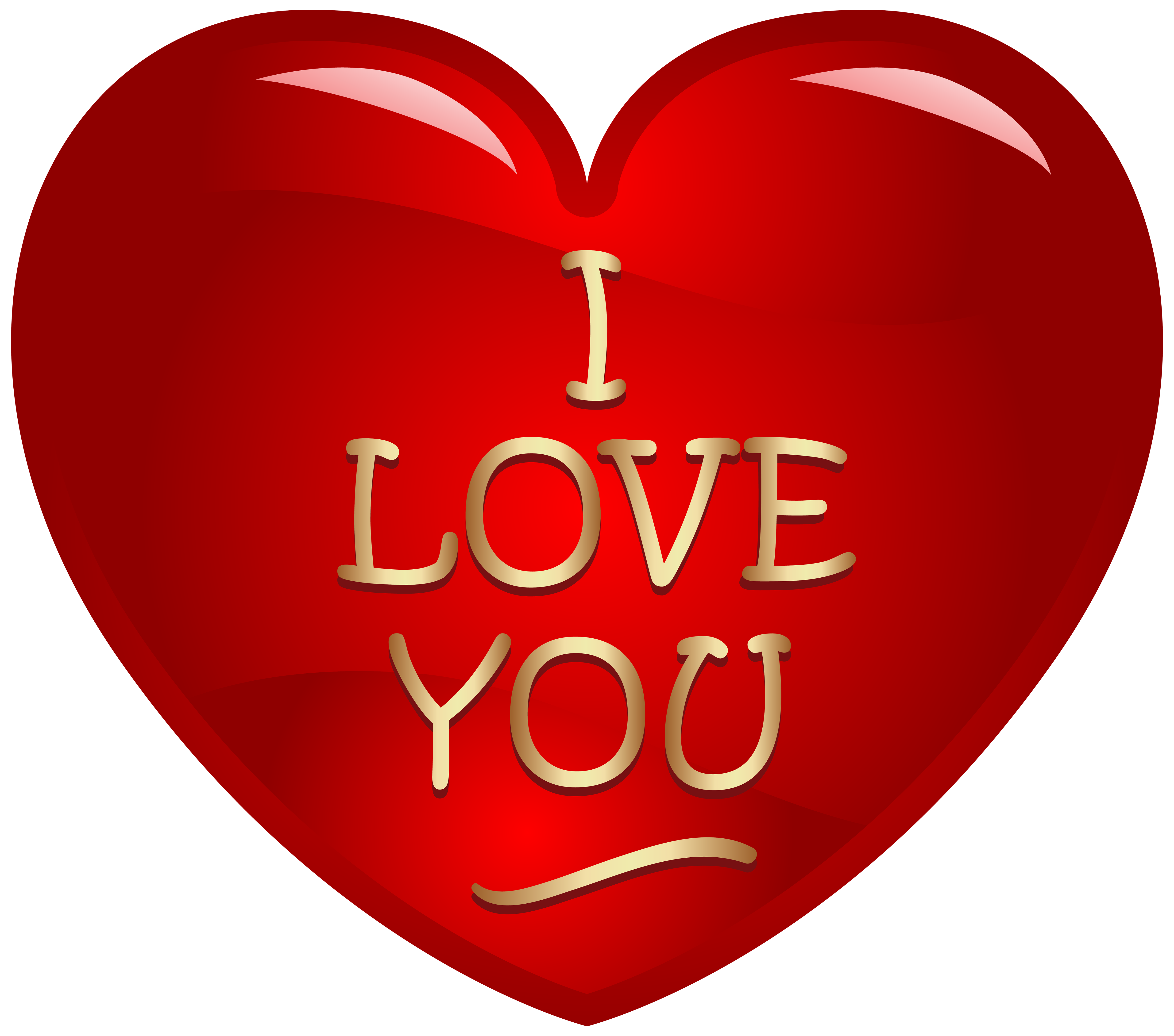 I Love You Heart PNG Clipart Image.