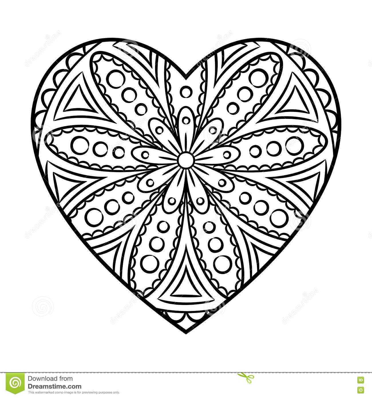 heart mandala clipart - Clipground