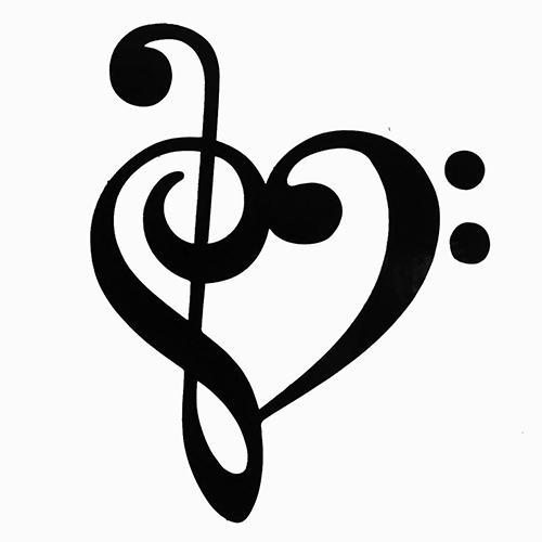 Heart Music Note Clip Art.