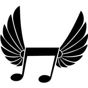Music Notes Heart Clip Art.