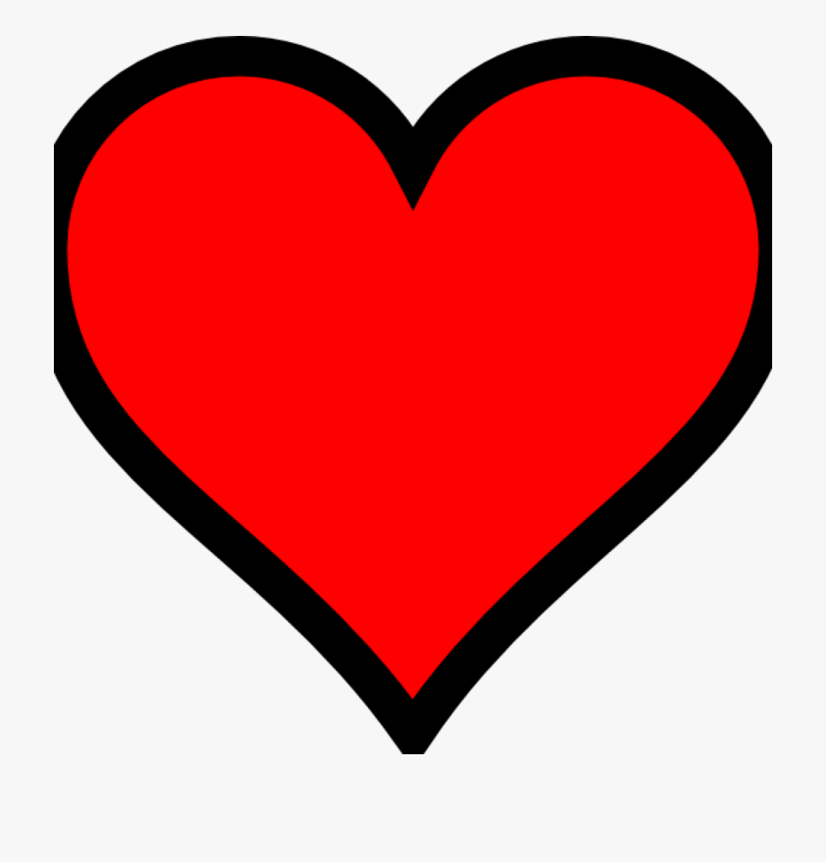 Plain Red Heart No Background Clipart Jpg Library Stock.