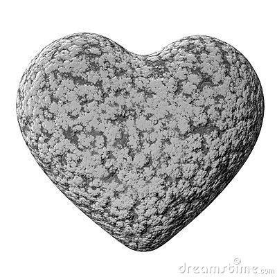 Heart Of Stone Stock Photography.
