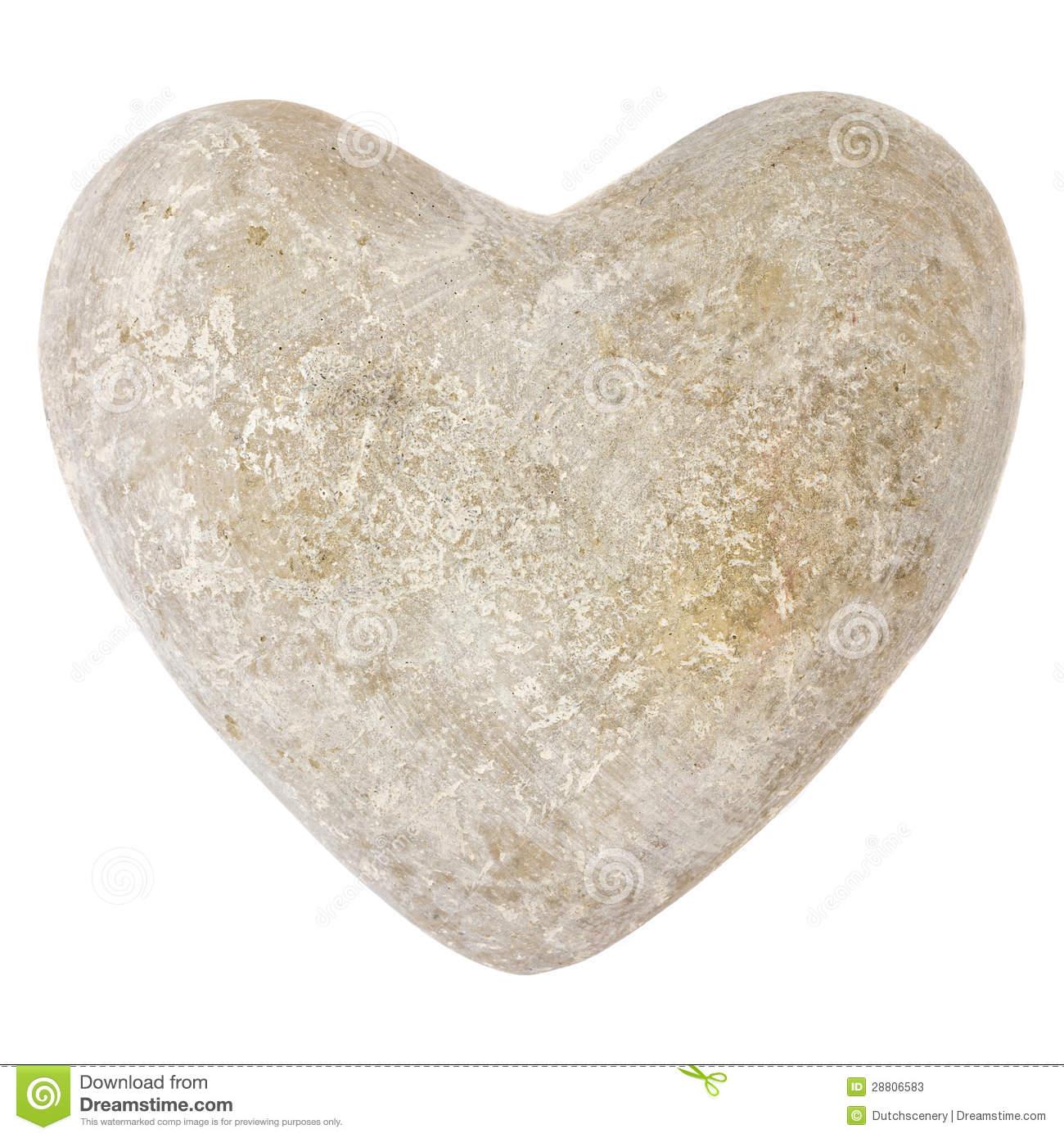 Stone heart clipart.