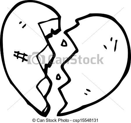 Vectors of cartoon cracked stone heart csp15548131.