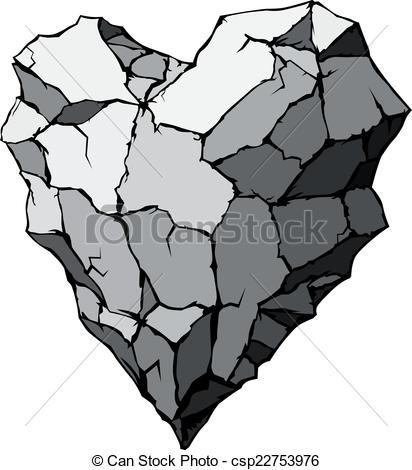 Vectors Illustration of Stone heart shape. Eps8. CMYK. Organized.