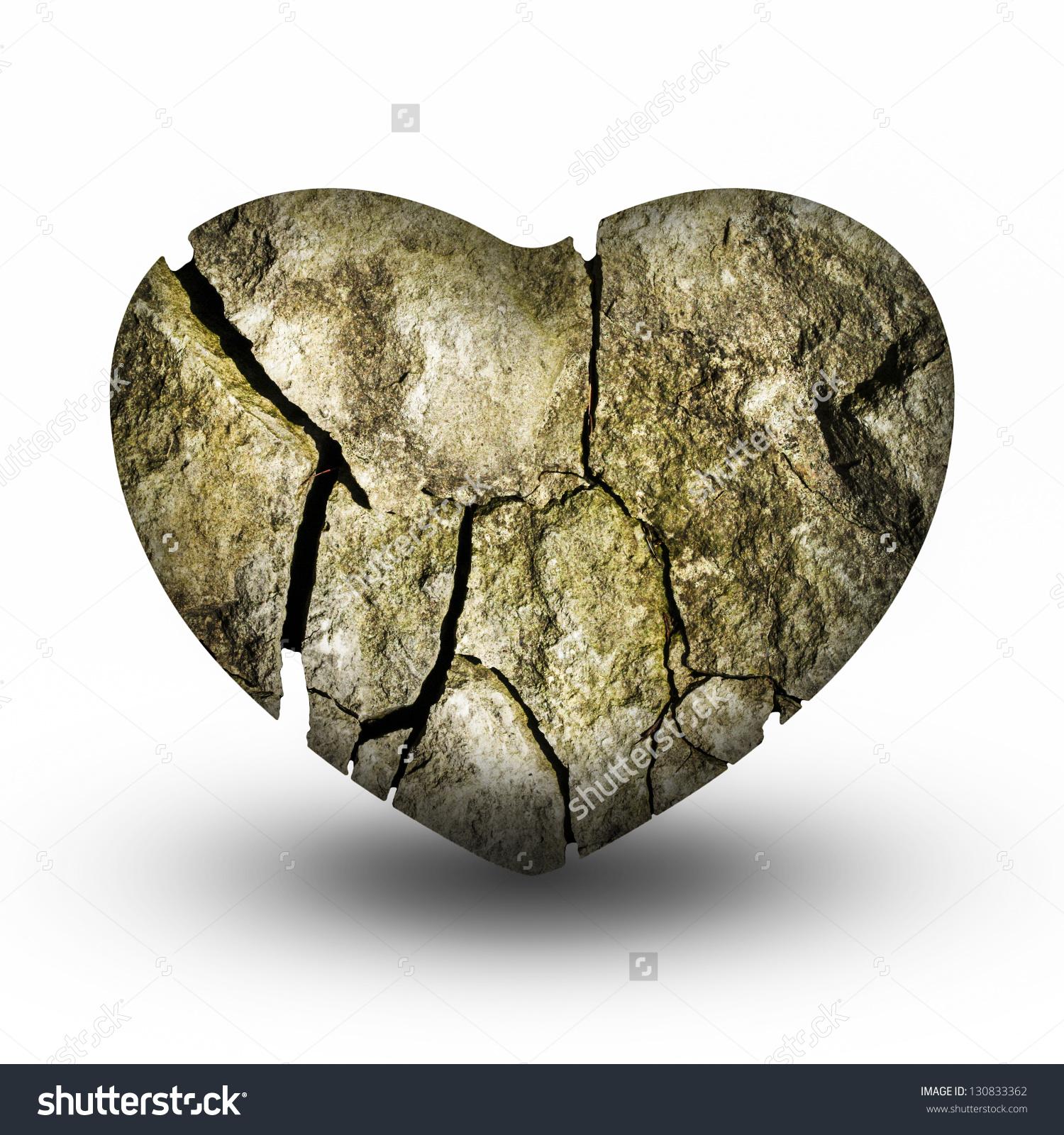 Heart stone clipart.