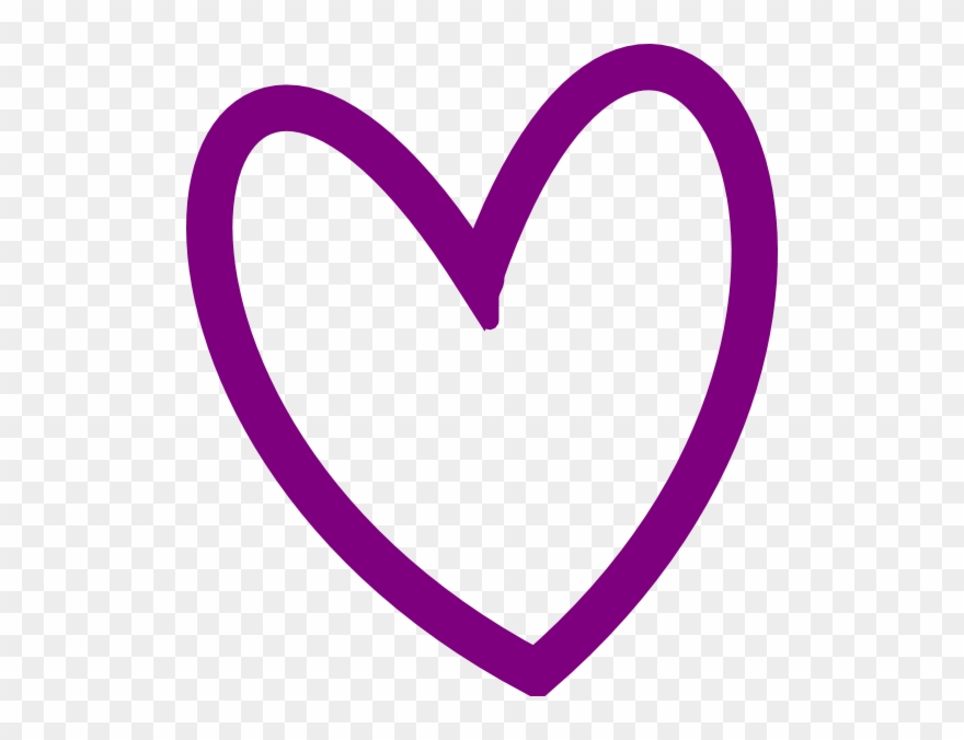 Heart Outline Clip Art Png.