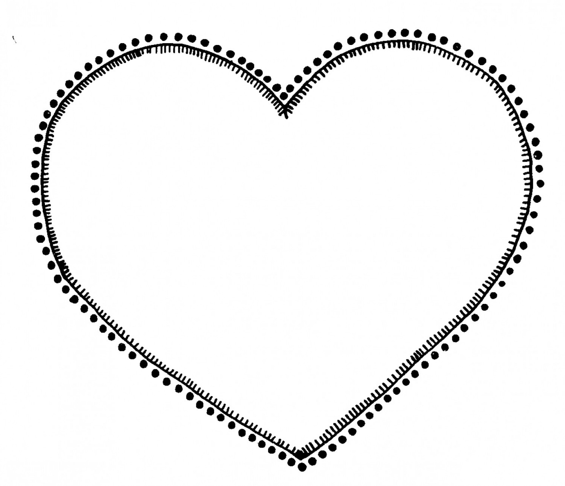 Heart Outline Clipart Black And White Black And White Heart.
