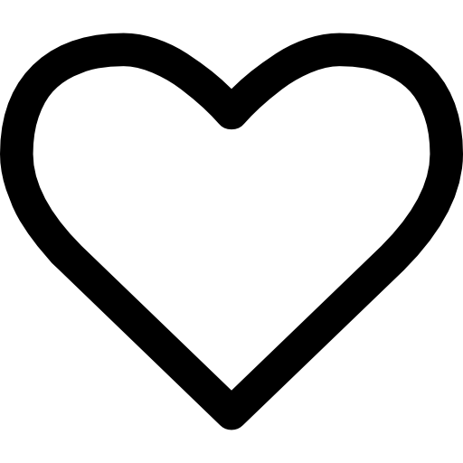 Heart shape outline Icons.