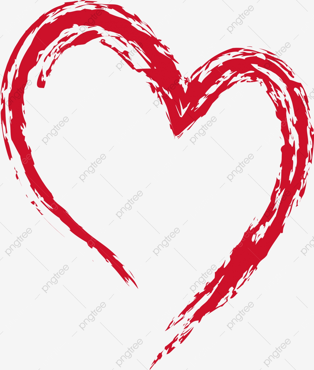 Heart Ink Heart Outline, Ink, Gules, Heart Brush PNG and Vector with.