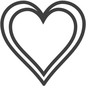 Heart outlines clip art.