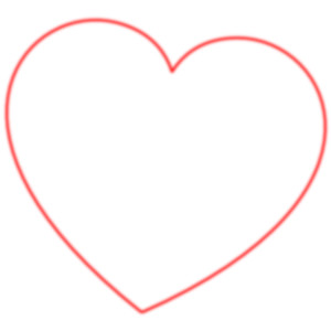 Red Heart Outline Clip Art.