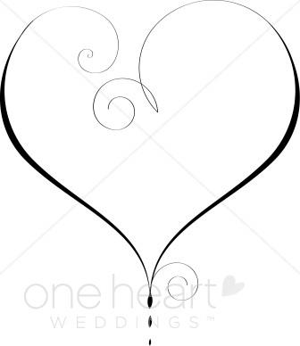 Heart Outline Clipart.