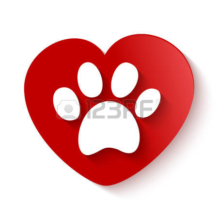 1,880 Paw Print Heart Cliparts, Stock Vector And Royalty Free Paw.