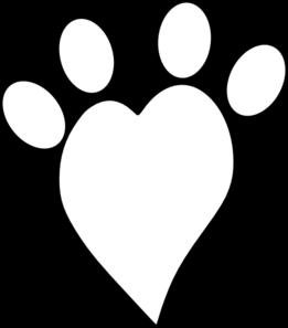 Heart Paw Print Clip Art at Clker.com.