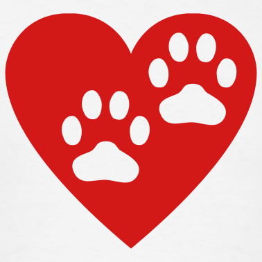 Heart Paw Print Clipart Clipground