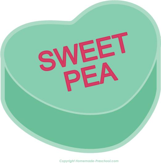 Sweet Pea Clipart.