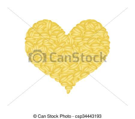 EPS Vectors of Split Peas Forming in A Heart Shape.
