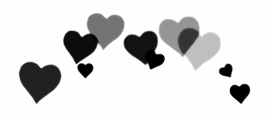 black #hearts #photography #photo #pretty #photobooth, Transparent.