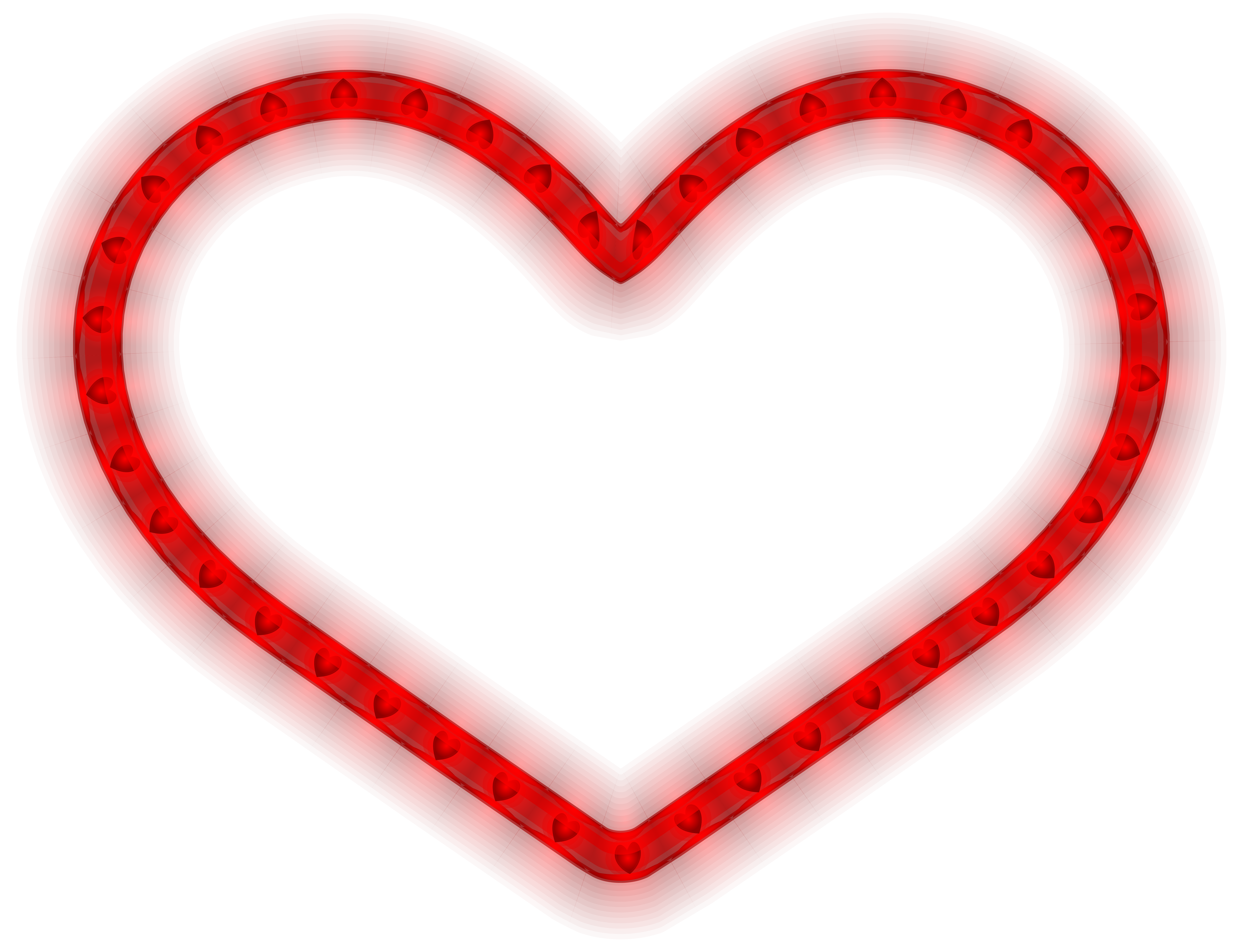 Glowing Heart PNG Clipart Image.