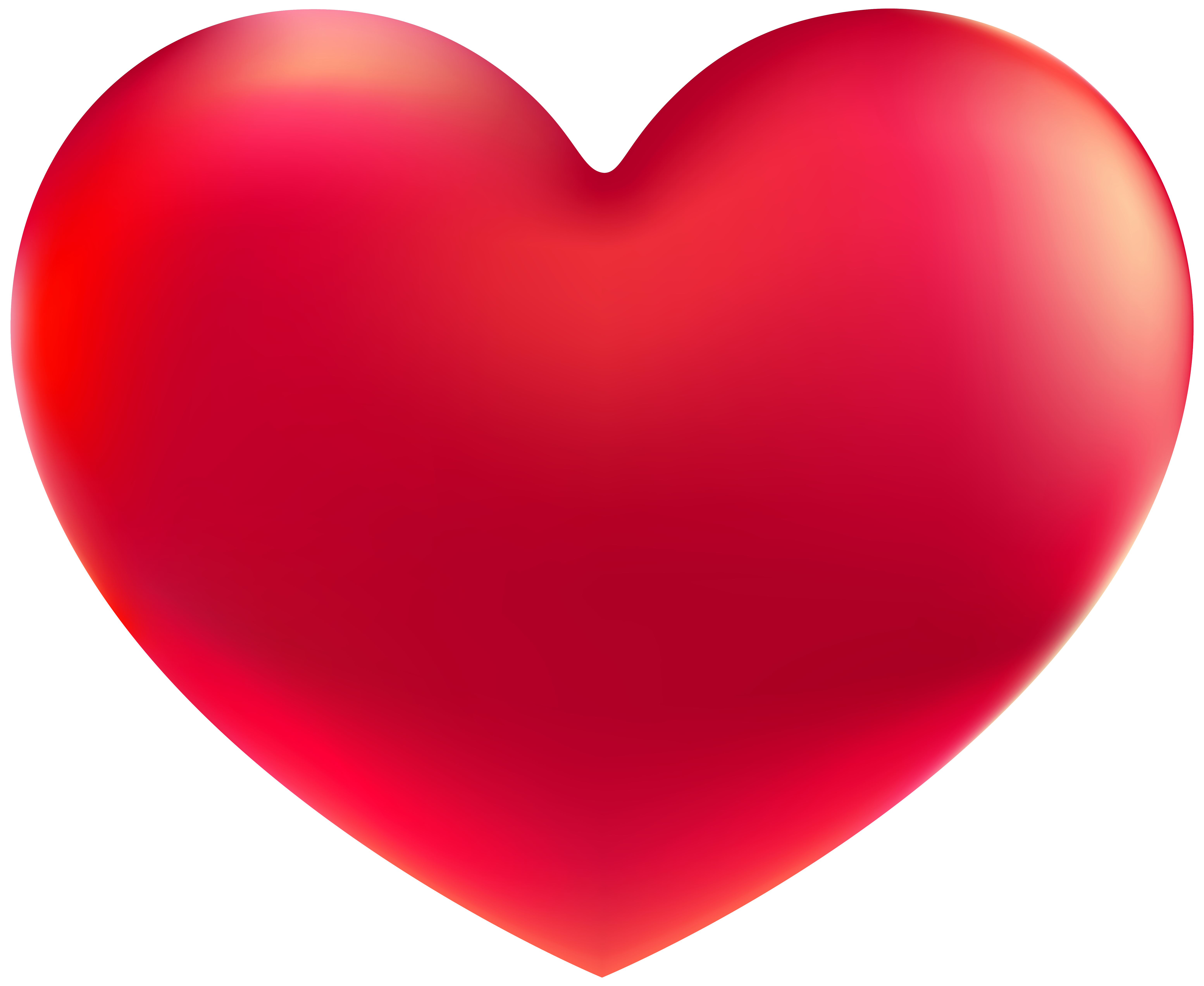 Red Heart PNG Clipart Image.