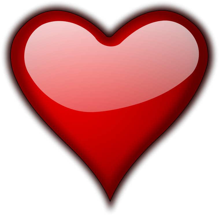 HD 3d Red Heart Png Hd.